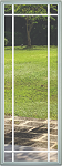 Universal 22 x 64 - 9 Lite Prairie the Glass & White Frame with Grids Between the Glass